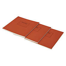 Buy Pocket Department Backpack Notebook, Red, Pack Of 3 Online at johnlewis.com