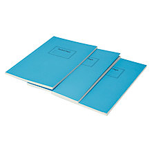 Buy Pocket Department Messenger Bag Notebook, Blue, Pack Of 3 Online at johnlewis.com