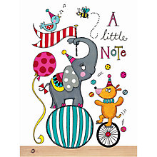 Buy Rachel Ellen Thank You Circus Cards, Multi, Set Of 5 Online at johnlewis.com