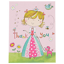 Buy Rachel Ellen Thank You Princess Cards, Pink, Set Of 5 Online at johnlewis.com