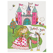 Buy Rachel Ellen Thank You Notecards, Princess Castle, Pack Of 5 Online at johnlewis.com
