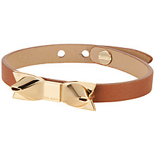 Buy Ted Baker Tailzie Leather Bracelet Online at johnlewis.com