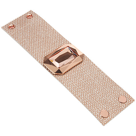 Buy Ted Baker Gemmu Gem Leather Cuff Online at johnlewis.com