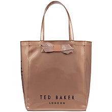 Buy Ted Baker Gemcon Large Metallic Bow Ikon Shopper Bag Online at johnlewis.com