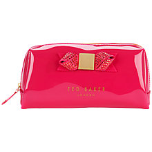 Buy Ted Baker Piksi Metallic Bow Large Wash Bag Online at johnlewis.com