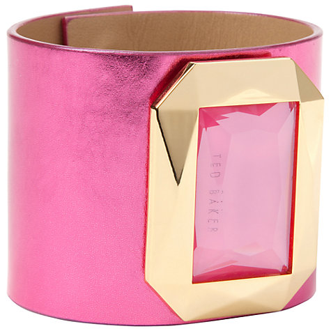 Buy Ted Baker Gemmo Leather Bracelet Online at johnlewis.com