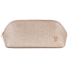 Buy Ted Baker Roseei Weave Wash Bag, Nude Pink Online at johnlewis.com