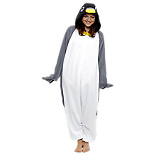 Buy Kigu Penguin Onesie, Black/White Online at johnlewis.com