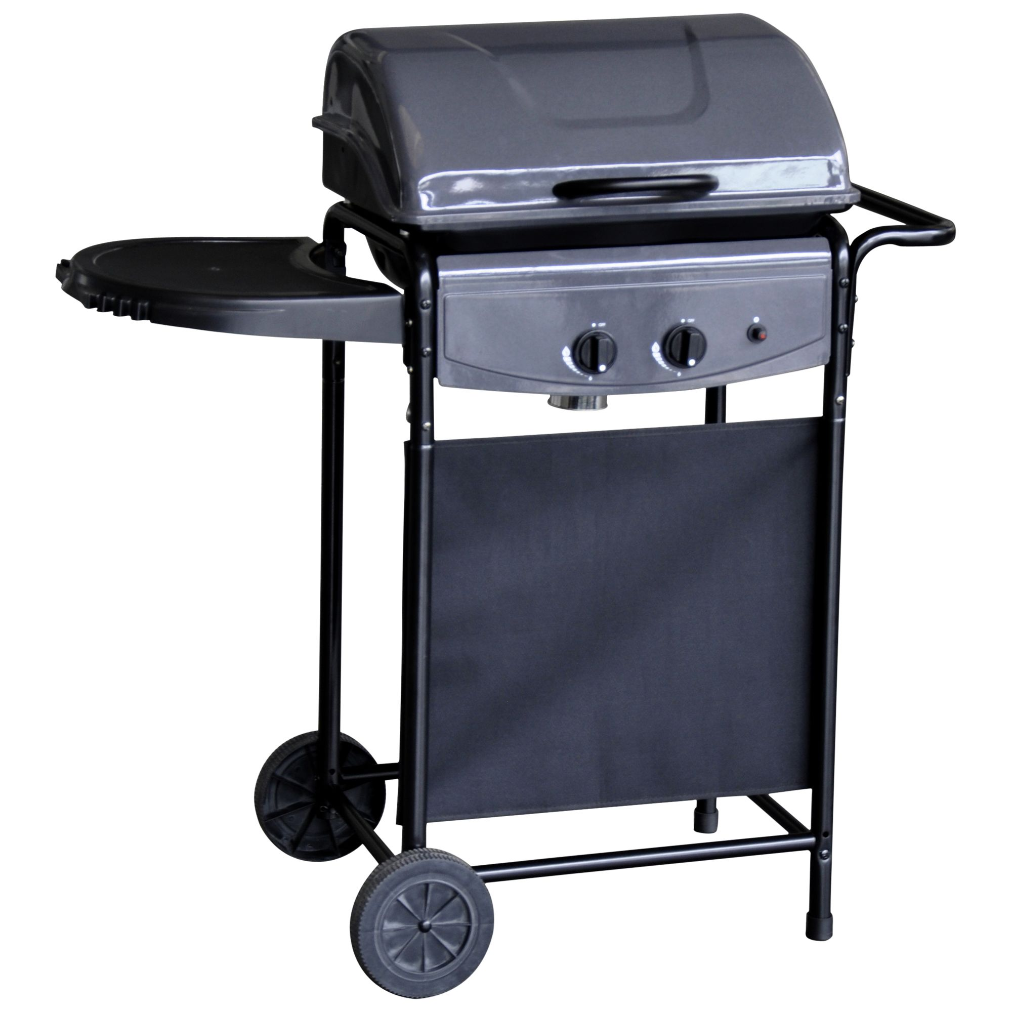 John Lewis Bistro 2 Burner Gas Barbecue, Black