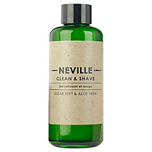 Buy Neville 2 in 1 Clean and Shave, 200ml Online at johnlewis.com