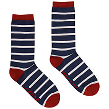Buy Seasalt Sailor Breton Stripe Bamboo Mix Ankle Socks, Navy Online at johnlewis.com