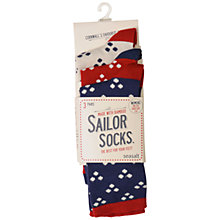 Buy Seasalt Sailor Hanky Dot Bamboo Mix Ankle Socks, Multi, Pack of 3 Online at johnlewis.com