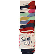 Buy Seasalt Breton Sailor Stripe Bamboo Mix Ankle Socks, Multi, Pack of 7 Online at johnlewis.com
