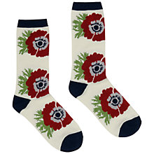 Buy Seasalt Floral Bamboo Mix Ankle Socks, White/Pink Online at johnlewis.com