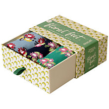 Buy Seasalt Floral Feet Ditsy Print Bamboo Mix Ankle Sock Box, Multi, Set of 3 Online at johnlewis.com