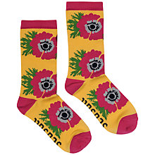 Buy Seasalt Floral Feet Bamboo Mix Ankle Socks, Saffron Online at johnlewis.com