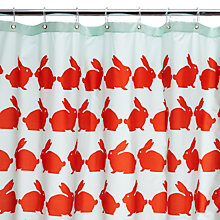 Buy Anorak Kissing Rabbits Shower Curtain Online at johnlewis.com