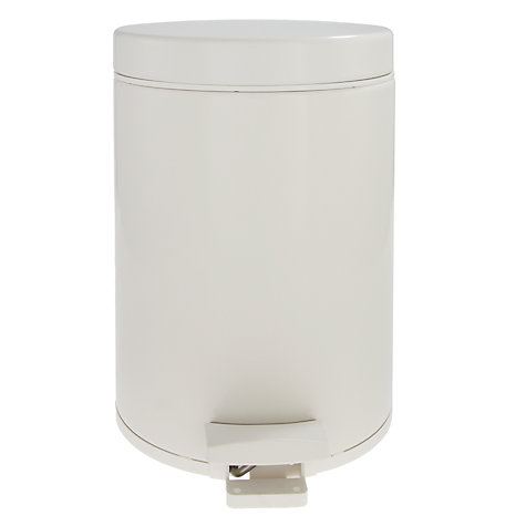 Buy Brabantia Bathroom Pedal Bin, White, 5L Online at johnlewis.com