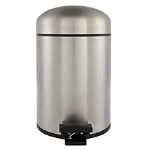 Buy Brabantia Dome Bathroom Pedal Bin, Stainless Steel, 3L Online at johnlewis.com