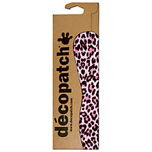 Buy Decopatch Animal Print Paper, Pack of 3, Pink/Black Online at johnlewis.com
