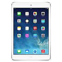 "Buy Apple iPad mini with Retina display, Apple A7, iOS 7, 7.9"", Wi-Fi & Cellular, 128GB, Silver + Microsoft Office 365 Personal Online at johnlewis.com"