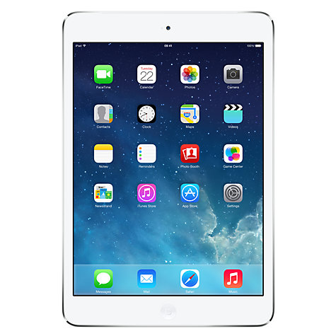 Buy Apple iPad mini with Retina display, Apple A7, iOS 7, 7.9, Wi-Fi & Cellular, 128GB, Silver Online at johnlewis.com