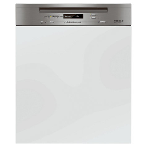 Buy Miele G6310 Sci Semi Integrated Dishwasher, Clean Steel Online at johnlewis.com