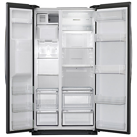 Buy LG GSL325WBQV American Style Fridge Freezer, Black Online at johnlewis.com