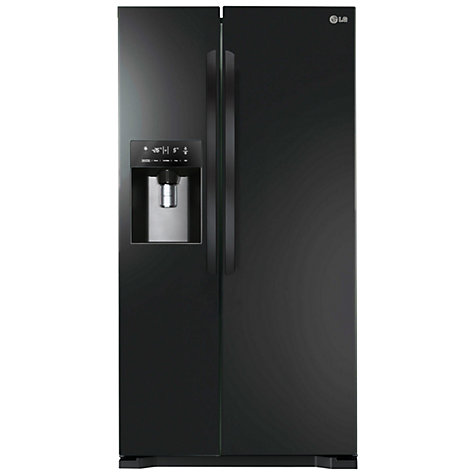 Buy LG GSL325WBYV American Style Fridge Freezer, Black Online at johnlewis.com