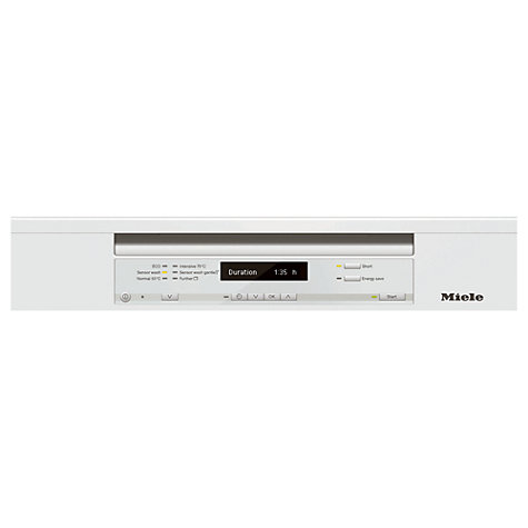 Buy Miele G6310 Sci Semi Integrated Dishwasher, White Online at johnlewis.com