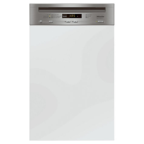 Buy Miele G4700 Sci Semi integrated Dishwasher, Clean Steel Online at johnlewis.com