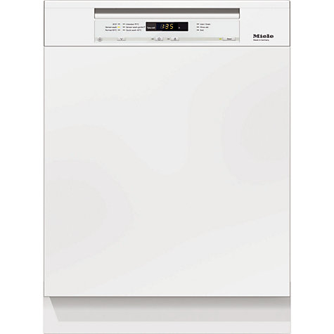 Buy Miele G6100 Sci Semi integrated Dishwasher, White Online at johnlewis.com