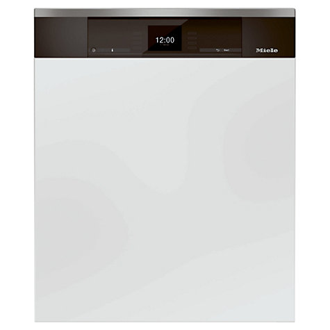 Buy Miele G6905 Sci XXL Semi Integrated Dishwasher, Clean Steel Online at johnlewis.com