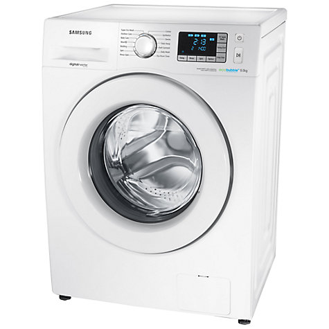 Buy Samsung WF90F5E3U4W ecobubble™ Washing Machine, 9kg Load, A+++ Energy Rating, 1400rpm Spin, White Online at johnlewis.com