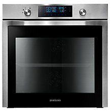 Buy Samsung NV70F7786HS Dual Cook Single Electric Oven, Stainless Steel Online at johnlewis.com