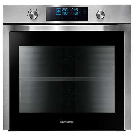 buy samsung nv70f7786hs dual cook single electric oven stainless steel john lewis