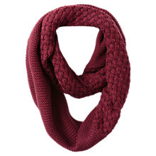 Buy East Knitted Stitch Snood, Merlot Online at johnlewis.com