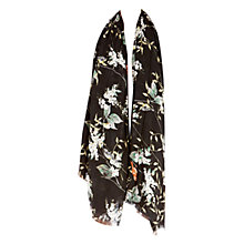 Buy Warehouse Lily Valley Scarf, Black Pattern Online at johnlewis.com