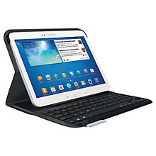 "Buy Logitech Ultrathin Keyboard Folio Case for Samsung Galaxy Tab 3 10.1"" plus FREE Logitech iPhone/ iPod touch Gaming Controller Online at johnlewis.com"
