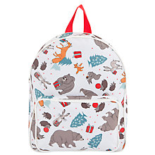 Buy John Lewis The Bear & The Hare Rucksack, White/Multi Online at johnlewis.com