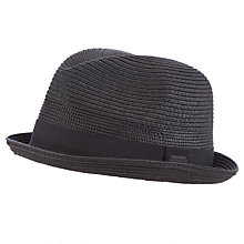 Buy Diesel Straw Trilby, Black Online at johnlewis.com