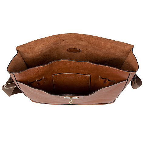 "Buy Mulberry Brynmore 15"" Laptop Naural Leather Messenger Bag, Oak Online at johnlewis.com"