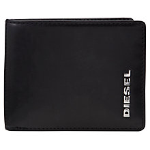Buy Diesel Fresh & Bright Hiresh XS Leather Wallet, Black/Green Online at johnlewis.com