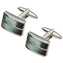 Buy John Lewis Double Band Mother of Pearl Cufflinks, Mother of Pearl/Silver Online at johnlewis.com