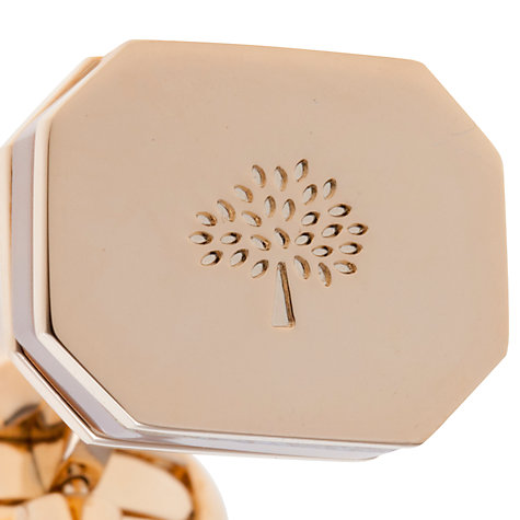 Buy Mulberry Octangle Mother of Pearl Rose Gold Cufflinks Online at johnlewis.com