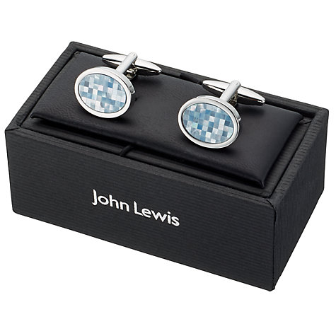 Buy John Lewis Mother of Pearl Mosaic Cufflinks, Mother of Pearl/Silver Online at johnlewis.com