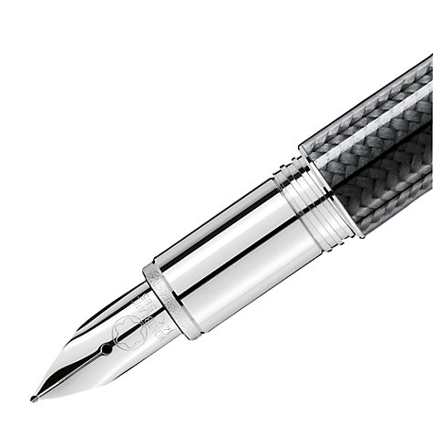 Buy Montblanc StarWalker Platinum Plated Carbon Fountain Pen, Black Online at johnlewis.com
