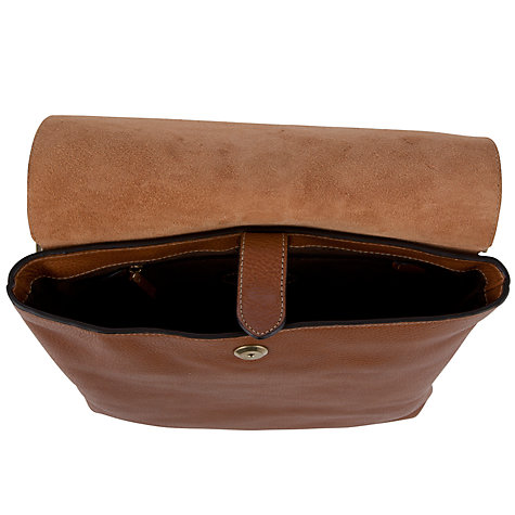 Buy Mulberry Natural Leather Reporter With Flap Bag, Oak Online at johnlewis.com