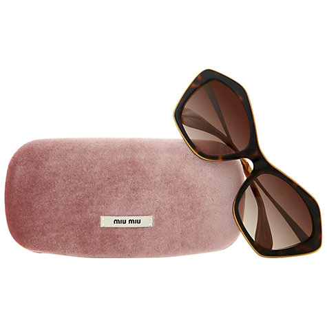 Buy Miumiu 0MU 02OS KAZ6S1 Quirky Cat's Eye Sunglasses, Tortoise Online at johnlewis.com