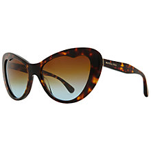 Buy Miu Miu MU040S 2AU1F0 Cat's Eye Acetate Frame Sunglasses, Havana Online at johnlewis.com